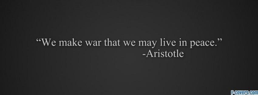 peace quote aristotle facebook cover