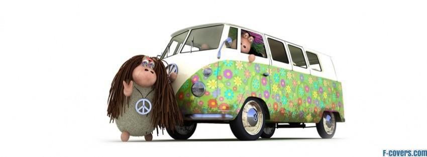 peace ride hippie van facebook cover