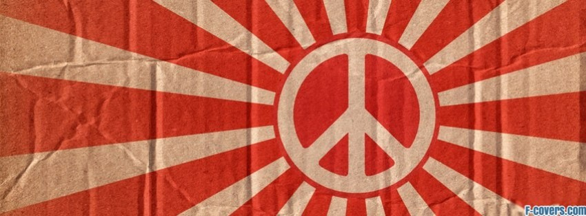 peace sign beams facebook cover