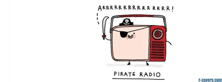 pirate radio illustration facebook cover