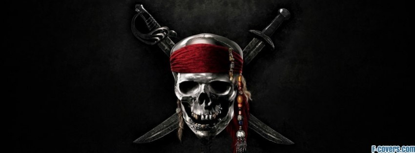 pirates of the caribbean skull facebook cover