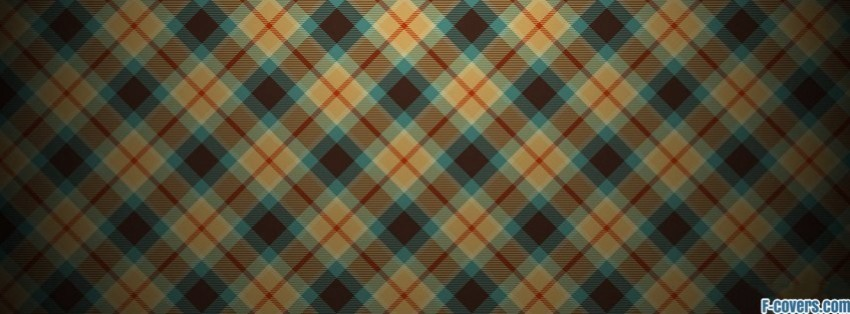 plaid texture pattern blue orange brown facebook cover