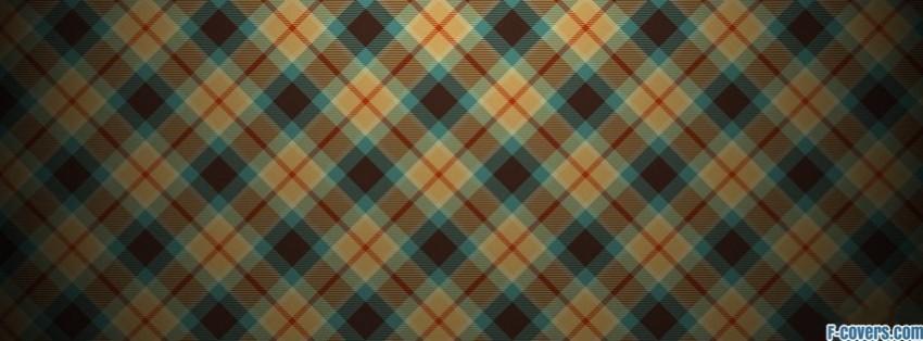 plaid texture pattern blue orange brown facebook cover