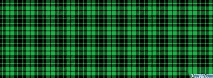 plaid texture pattern green and black facebook cover