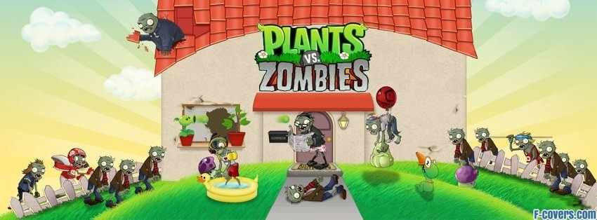 plants vs zombies facebook cover