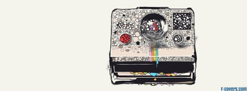 polaroid art drawing facebook cover