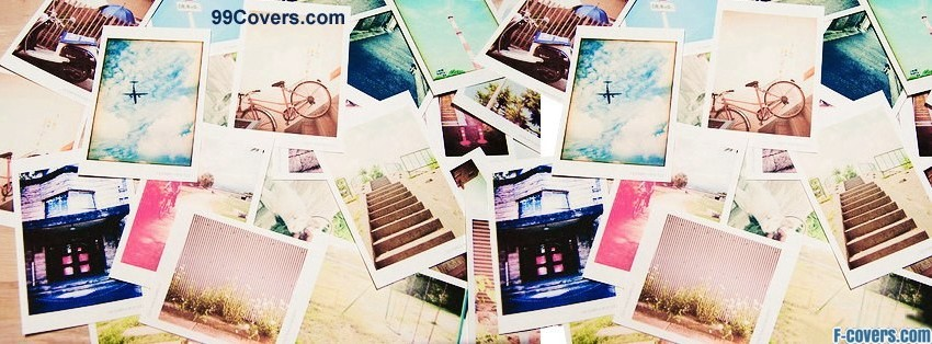 polaroid collage facebook cover