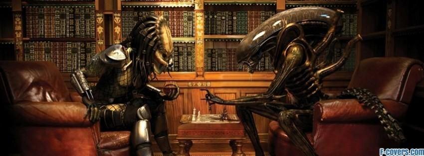 Predator Alien Chess Facebook Cover Timeline Photo Banner