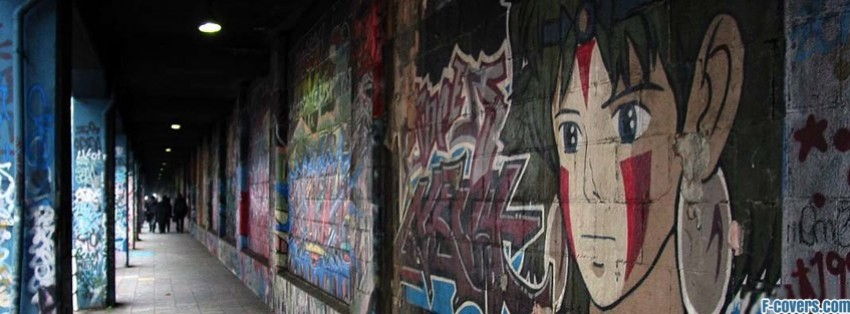 princess mononoke street art facebook cover