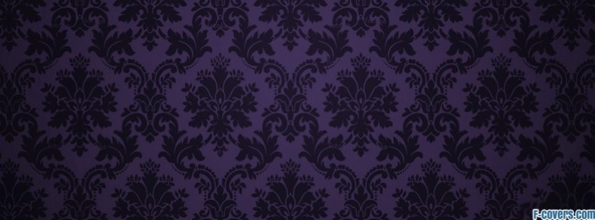 Dark Blue Damask Wallpaper: Purple And Black Damask Pattern Facebook Cover Timeline