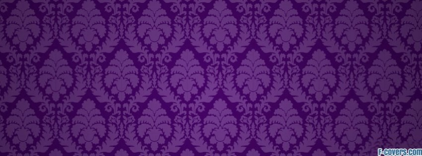 purple floral pattern 1 facebook cover timeline photo banner for fb