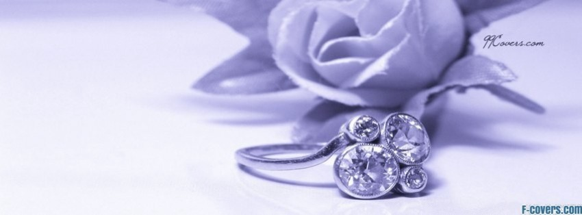purple wedding ring facebook cover