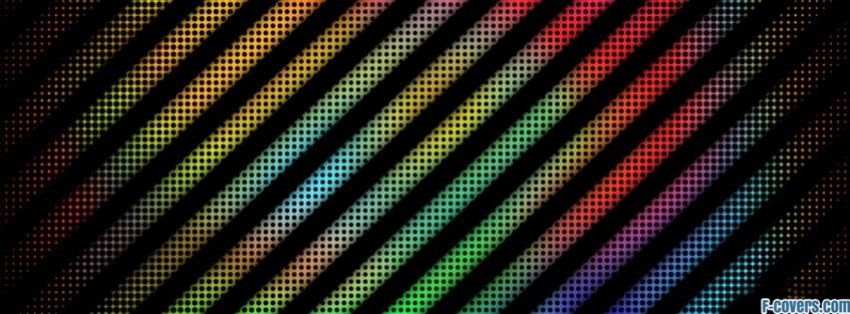 rainbow striped pattern facebook cover