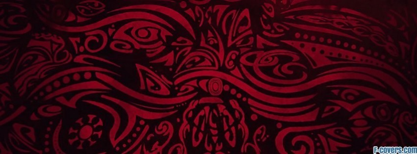 red and black tribal facebook cover timeline photo banner