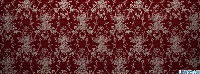 red and white damask pattern Facebook Cover timeline photo banner for fb