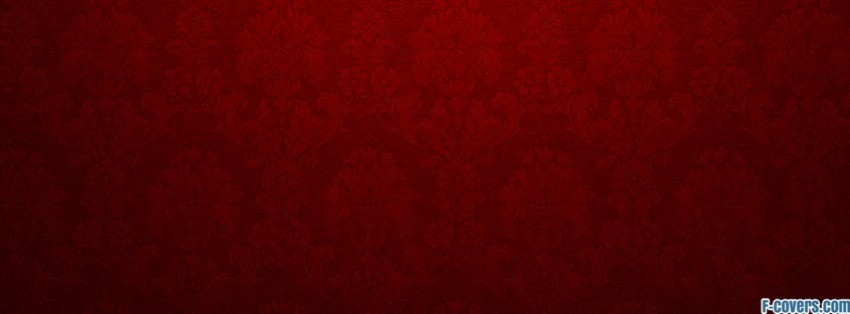 Red Floral Pattern Facebook Cover Timeline Photo Banner For Fb