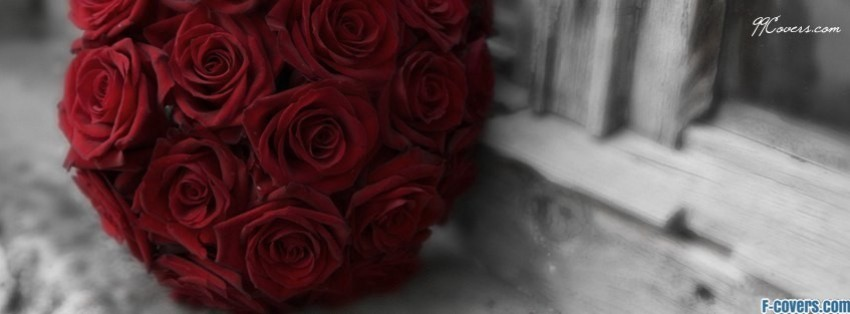 red roses wedding bouquet facebook cover