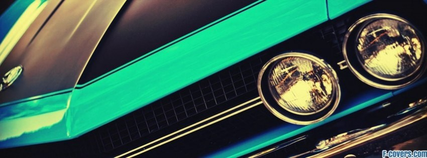 retro car close up facebook cover