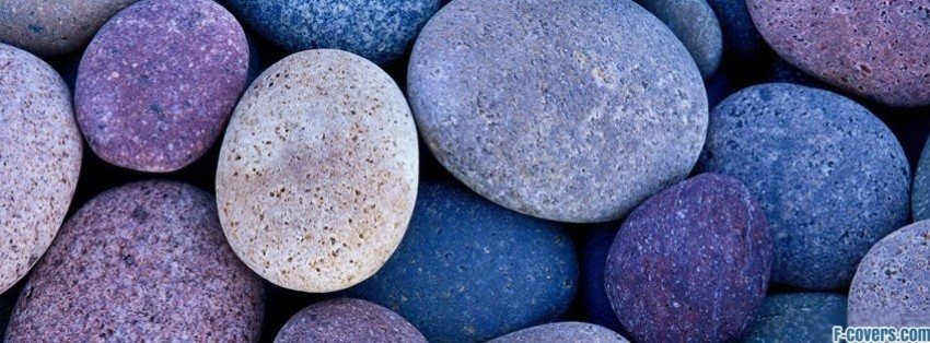 rocks multi color facebook cover