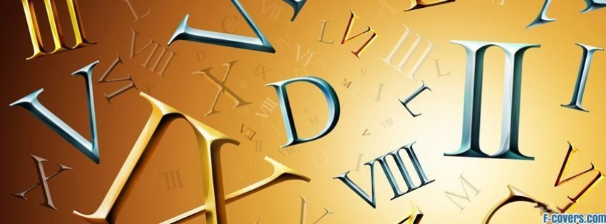 roman numerals facebook cover timeline photo banner for fb