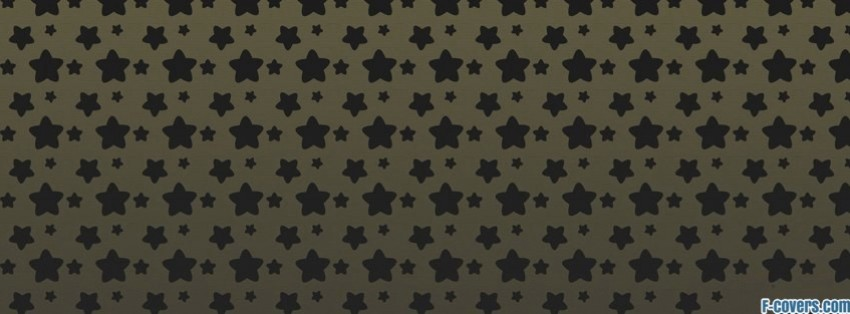 rounded black stars facebook cover