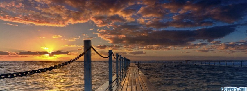 Seascape Ocean Dock Facebook Cover Timeline Photo Banner