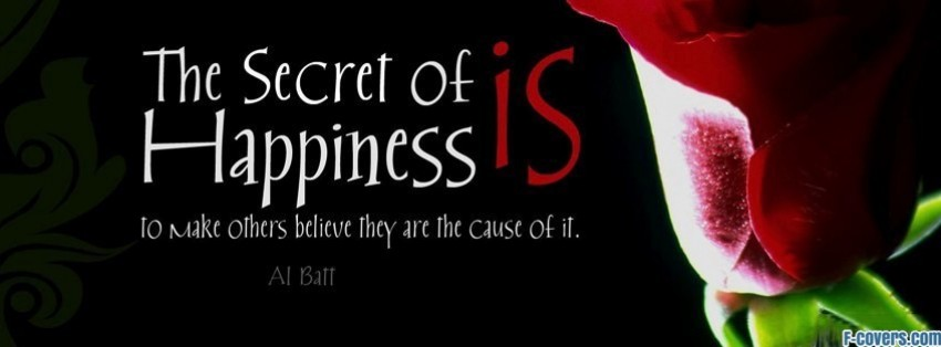 secret to happiness facebook cover