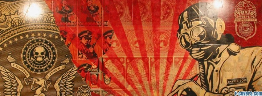 shepard fairey street art facebook cover