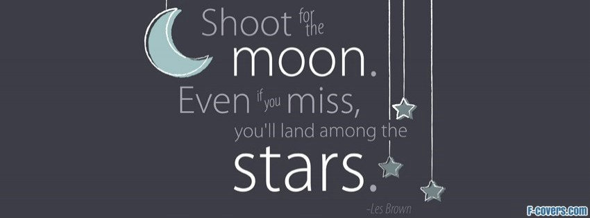 shoot for the moon facebook cover