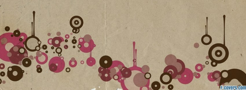 simple vector circles facebook cover