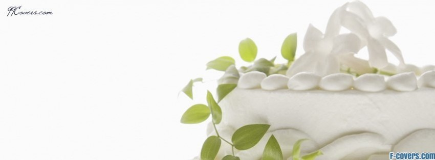simple wedding cake facebook cover