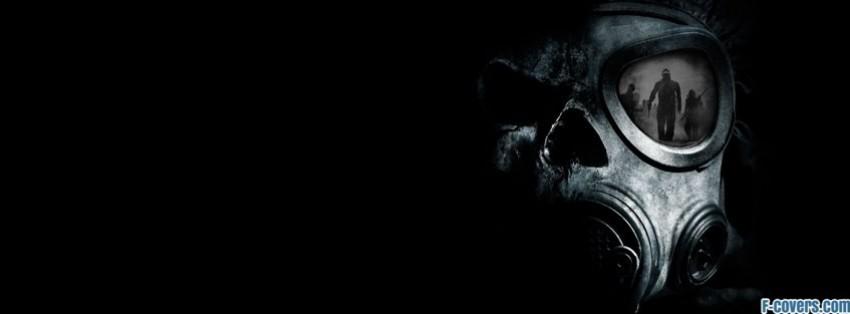skull gas mask reflection facebook cover