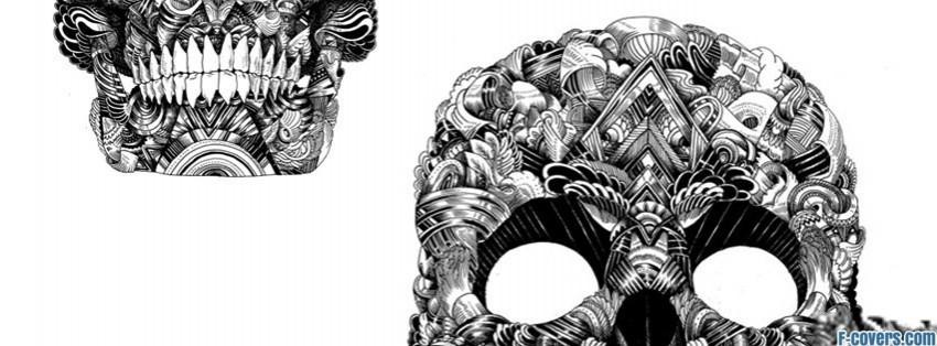 skull illustration facebook cover