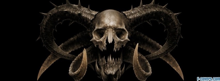 skull with horns facebook cover