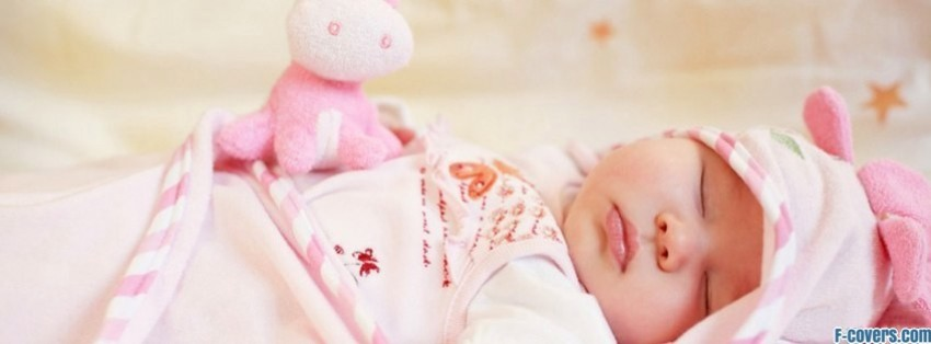 Sleeping Baby Girl Facebook Cover Timeline Photo Banner For Fb