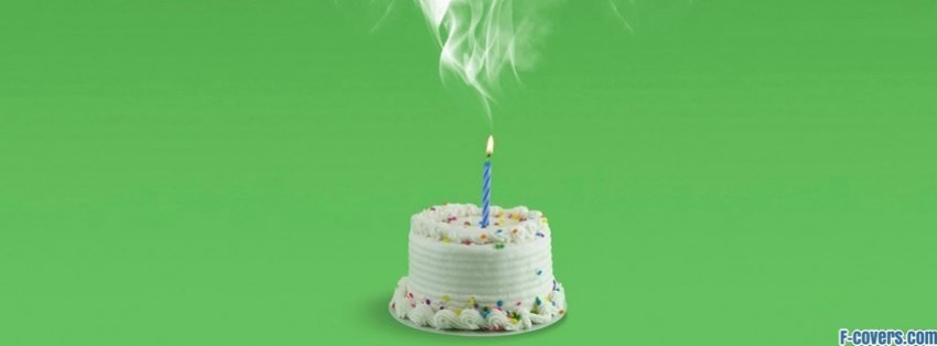 smoking birthday cake Facebook Cover timeline photo banner for fb