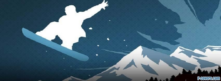 snowborder mountains facebook cover