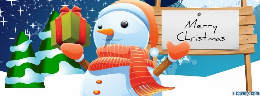 snowman christmas 2 facebook cover