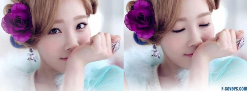 snsd taeyeon twinkle perfume facebook cover