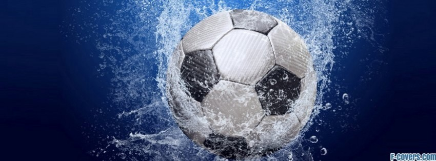 soccer ball water facebook cover