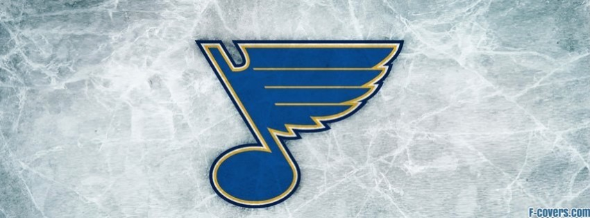 st louis blues ice logo facebook cover