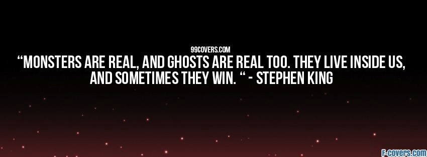 stephen king quote facebook cover