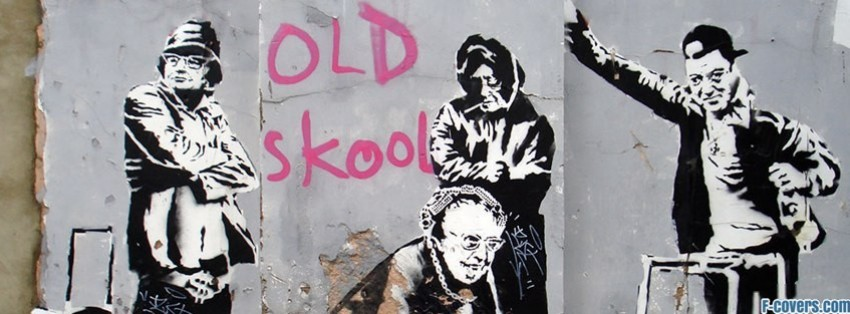 street art old skool facebook cover