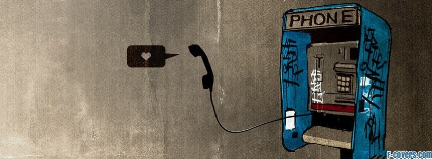 street art payphone heart facebook cover