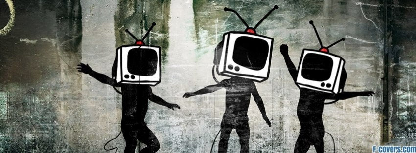 street art tv heads facebook cover