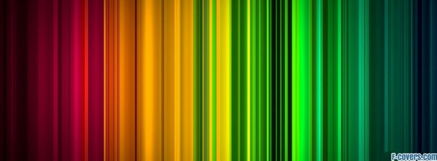Striped Texture Rainbow Multicolor Facebook Cover Timeline