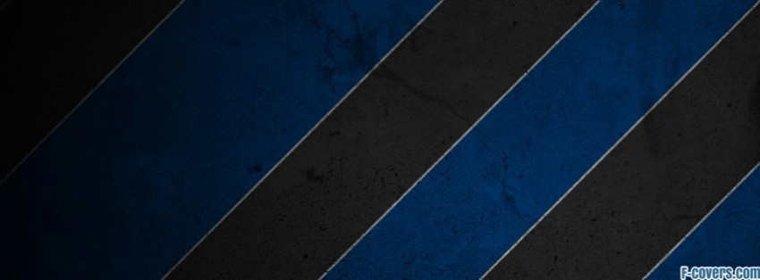 stripes pattern black and blue facebook cover