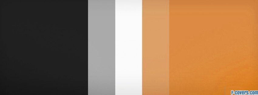 stripes pattern black white orange facebook cover