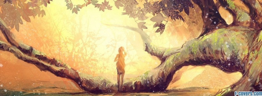 sun trees fantasy art facebook covers