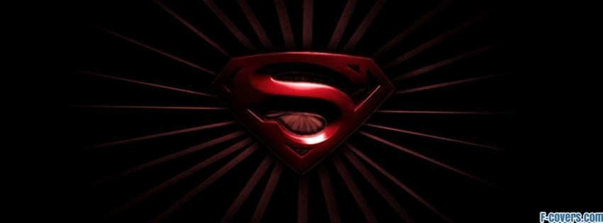 Superman logo red and black facebook cover timeline photo banner for fb superman logo red and black facebook cover voltagebd Choice Image